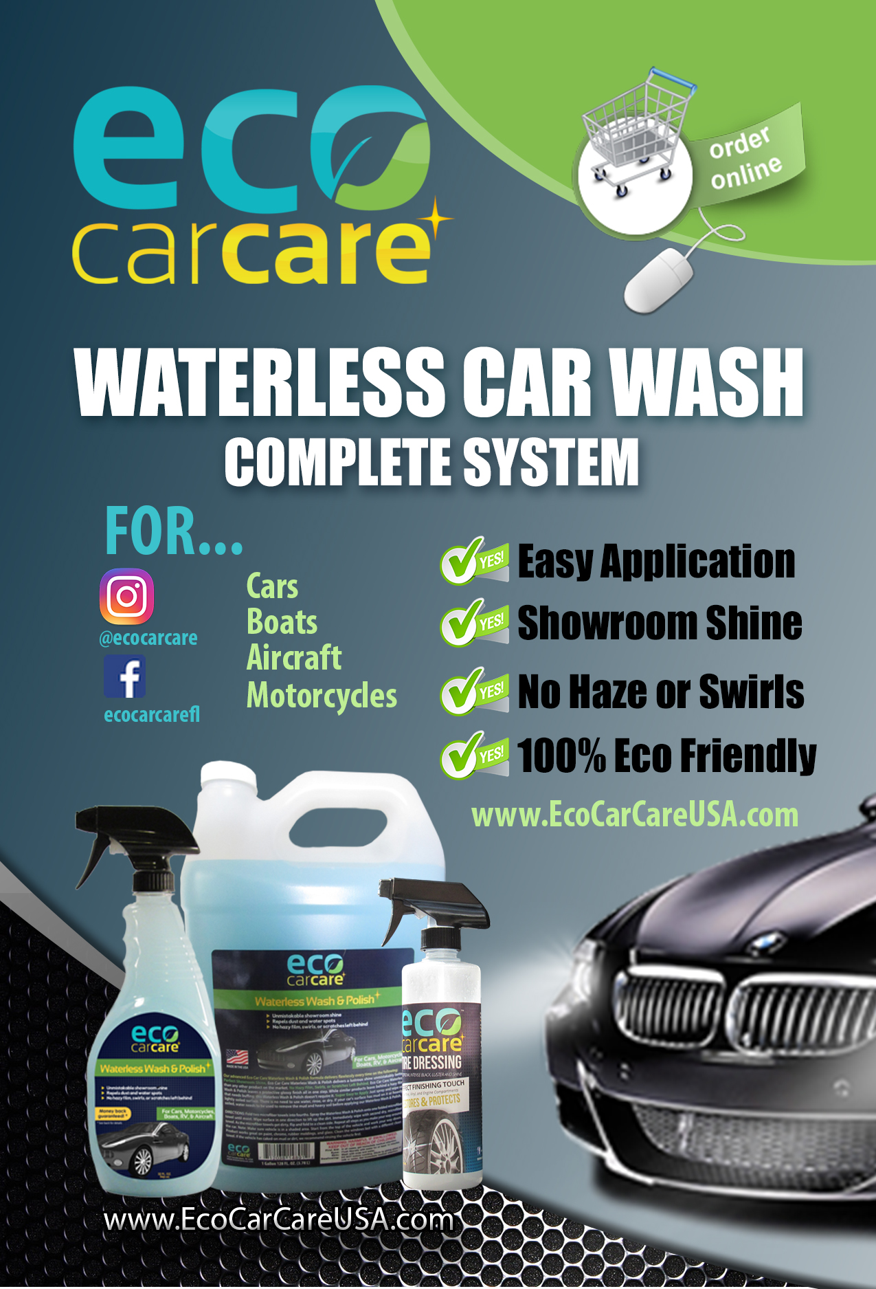 Mobile Waterless Car Wash Services